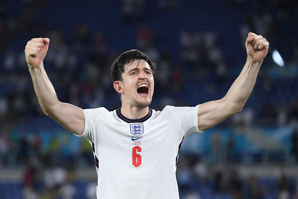 Harry Maguire tweeted his joy at the result (POOL/AFP via Getty Images)
