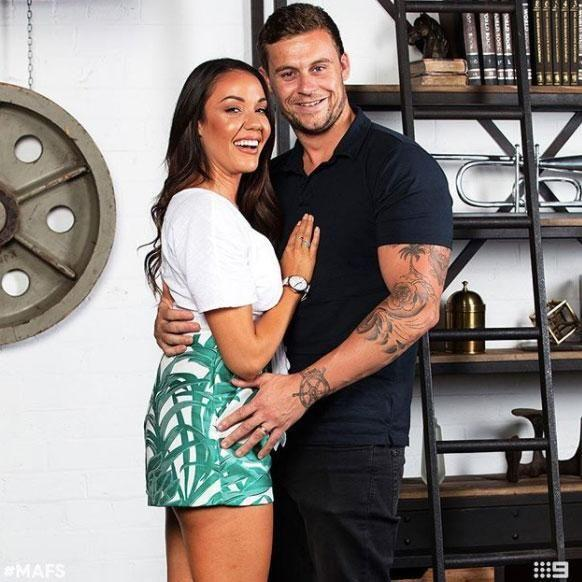 Ryan was paired with Davina on the show. Source: Nine