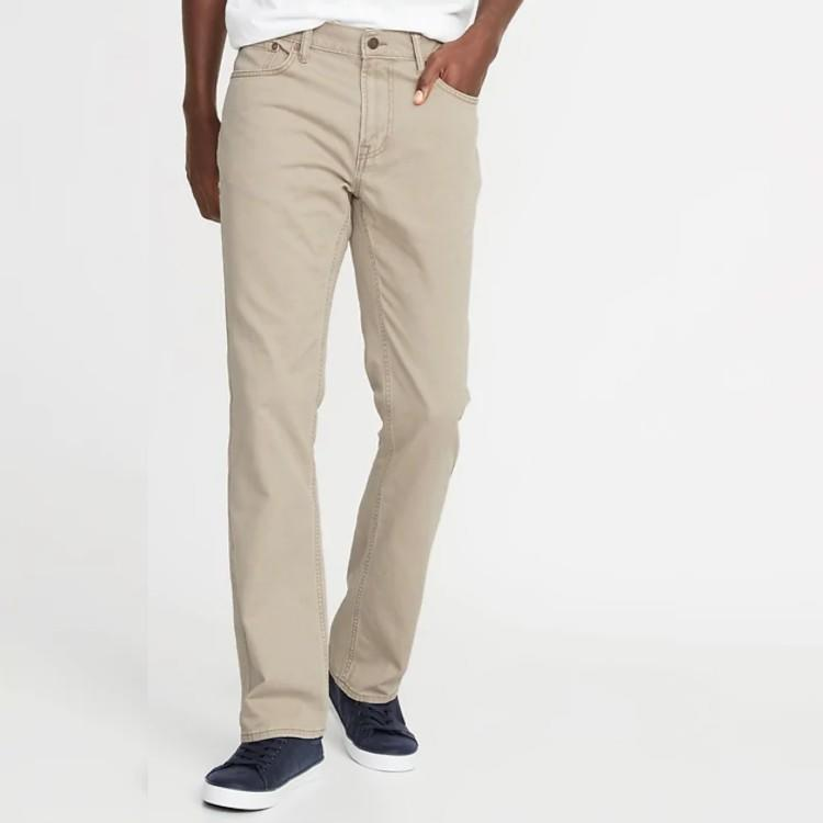 Twill Five-Pocket Boot-Cut Pants For Men. (Photo: Old Navy)