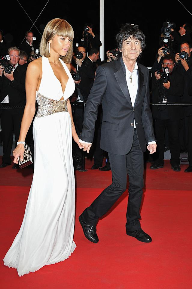 """Ronnie Wood and guest attend the 64th Annual Cannes Film Festival premiere of """"Meloncholia"""" on May 18, 2011."""