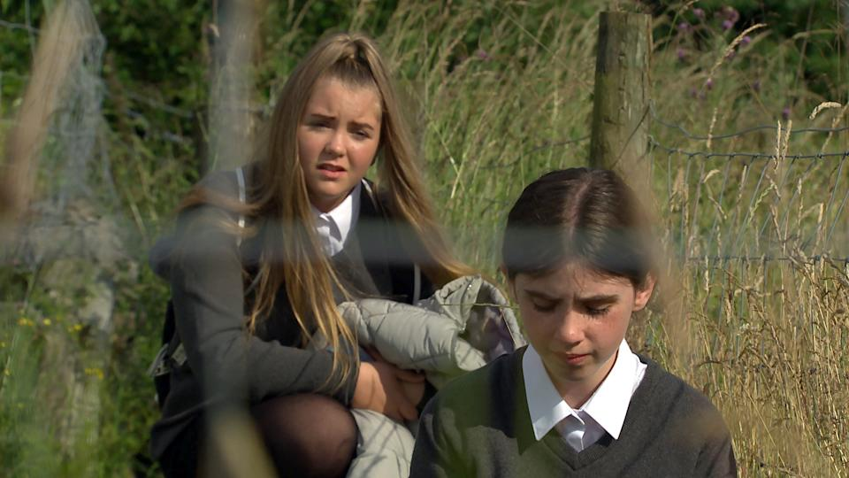 FROM ITV  STRICT EMBARGO  Print media - No Use Before Tuesday 31st August 2021 Online Media - No Use Before 0700 Tuesday 31st August 2021  Emmerdale - Ep 9146  Tuesday 7th September 2021  As the bully's messages become increasingly threatening, April Windsor [AMELIA FLANAGAN] collapses into tears. Cathy Hope [GABRIELLE DOWLING] is horrified by the level of emotional damage she's responsible for.   Picture contact David.crook@itv.com   This photograph is (C) ITV Plc and can only be reproduced for editorial purposes directly in connection with the programme or event mentioned above, or ITV plc. Once made available by ITV plc Picture Desk, this photograph can be reproduced once only up until the transmission [TX] date and no reproduction fee will be charged. Any subsequent usage may incur a fee. This photograph must not be manipulated [excluding basic cropping] in a manner which alters the visual appearance of the person photographed deemed detrimental or inappropriate by ITV plc Picture Desk. This photograph must not be syndicated to any other company, publication or website, or permanently archived, without the express written permission of ITV Picture Desk. Full Terms and conditions are available on  www.itv.com/presscentre/itvpictures/termsFROM ITV  STRICT EMBARGO  Print media - No Use Before Tuesday 31st August 2021 Online Media - No Use Before 0700 Tuesday 31st August 2021  Emmerdale - Ep 9145  Monday 6th September 2021  As the bully's messages become increasingly threatening, April Windsor [AMELIA FLANAGAN] collapses into tears. Cathy Hope [GABRIELLE DOWLING] is horrified by the level of emotional damage she's responsible for.   Picture contact David.crook@itv.com   This photograph is (C) ITV Plc and can only be reproduced for editorial purposes directly in connection with the programme or event mentioned above, or ITV plc. Once made available by ITV plc Picture Desk, this photograph can be reproduced once only up until the transmission [TX] date and no reproduc