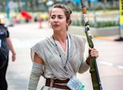 <p>Cosplayer is dressed as Rey at Comic-Con International on July 18, 2018, in San Diego. (Photo: Daniel Knighton/Getty Images) </p>