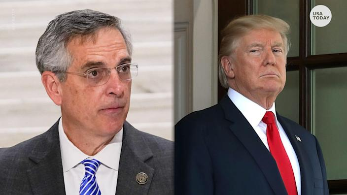 """In a recorded phone call obtained by The Washington Post, President Trump pressured Georgia Secretary of State Brad Raffensperger to """"find"""" votes to reverse his loss."""
