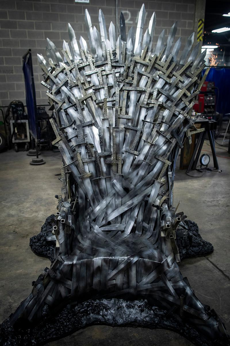 A full-size replica of the Iron Throne on the Game of Thrones HBO series was made by students at the Knight School of Welding on 39th Street in Louisville. April 19, 2019