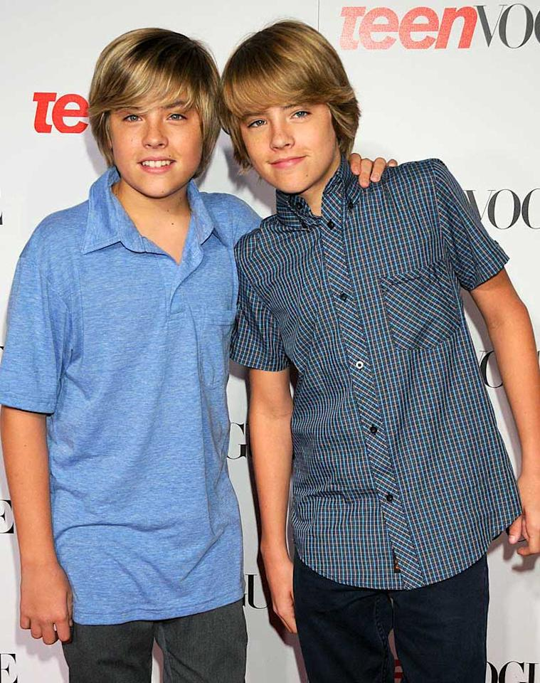 "Can you believe that Cole and Dylan Sprouse (""The Suite Life of Zack & Cody"") are already 16 years old? They're growing up so fast! Gregg DeGuire/<a href=""http://www.wireimage.com"" target=""new"">WireImage.com</a> - September 18, 2008"