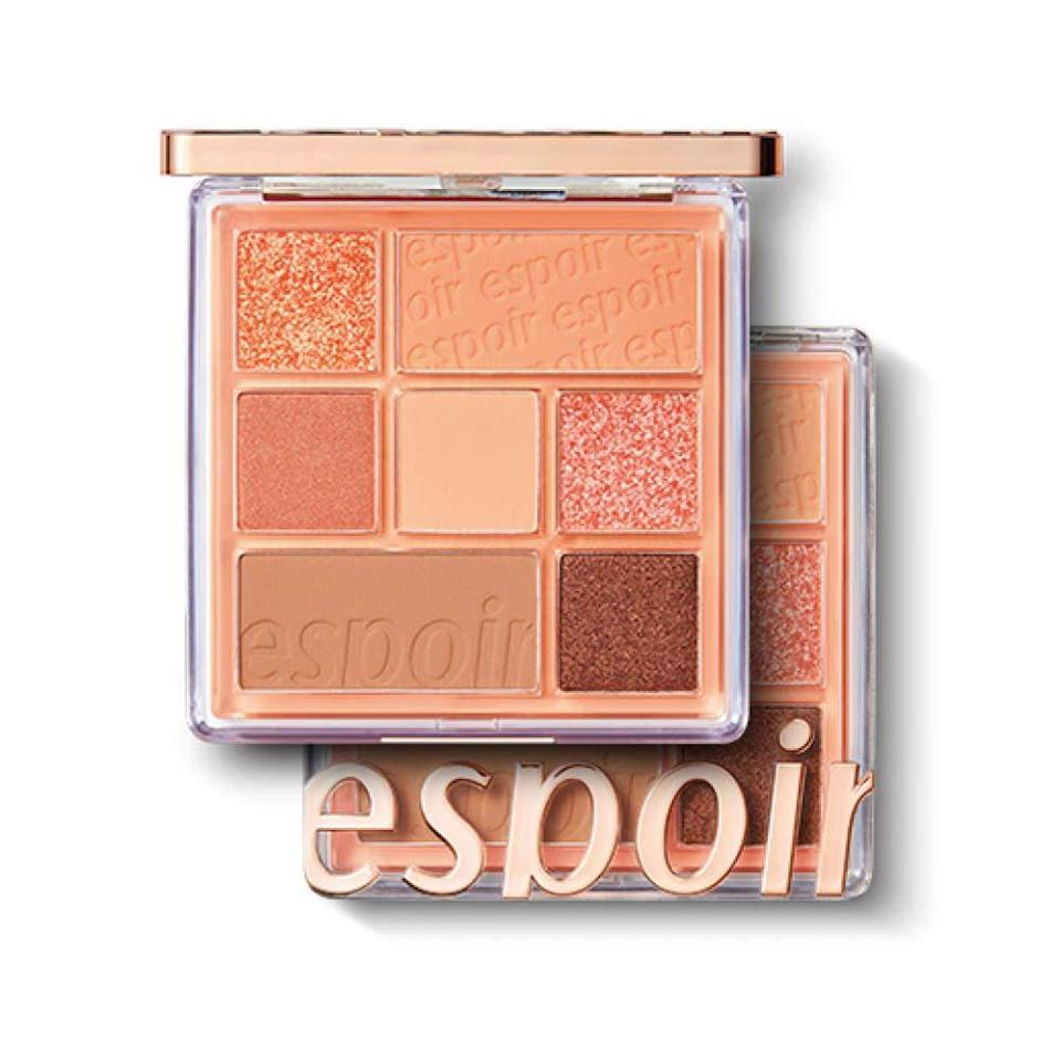 "<p>If you haven't heard of the makeup brand Espoir, we're going to let you in on a little secret: You <em>need</em> to try it. <a href=""https://www.allure.com/gallery/best-korean-makeup?mbid=synd_yahoo_rss"" rel=""nofollow noopener"" target=""_blank"" data-ylk=""slk:Allure Korea editors,"" class=""link rapid-noclick-resp""><em>Allure</em> Korea editors,</a> <em>Allure</em> digital beauty editor <a href=""https://www.allure.com/story/espoir-pro-tailor-foundation-be-glow-k-beauty-review?mbid=synd_yahoo_rss"" rel=""nofollow noopener"" target=""_blank"" data-ylk=""slk:Devon Abelman"" class=""link rapid-noclick-resp"">Devon Abelman</a>, and senior commerce writer Sarah Han fell in love with the glass-skin-like <a href=""https://www.amazon.com/espoir-TAILOR-FOUNDATION-BEGLOW-SPF25/dp/B07F6ZZDRG"" rel=""nofollow noopener"" target=""_blank"" data-ylk=""slk:Espoir Pro Tailor Foundation Be Glow"" class=""link rapid-noclick-resp"">Espoir Pro Tailor Foundation Be Glow</a> in that exact order of recommendation. </p> <p>But while they work on expanding its shade range, let's zone in on a product everyone can use: the Real Eye Palette. These seven-pan compacts are brimming with soft matte and shimmery colors that glide on like butter. Peachy Like (pictured above), Rosy Feed, and Nude Mood are perfect for casual, everyday looks that you can also build and glam up as needed.</p> $32, Amazon. <a href=""https://www.amazon.com/Palette-Multi-Use-Long-Lasting-Sparkling-Eyeshadow/dp/B08626MN4X"" rel=""nofollow noopener"" target=""_blank"" data-ylk=""slk:Get it now!"" class=""link rapid-noclick-resp"">Get it now!</a>"