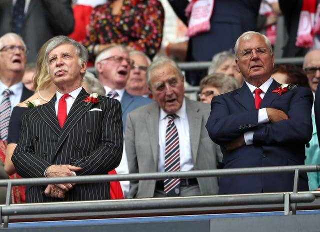 Arsenal Owner Stan Kroenke (left) has faced renewed protests from the club's supporters.