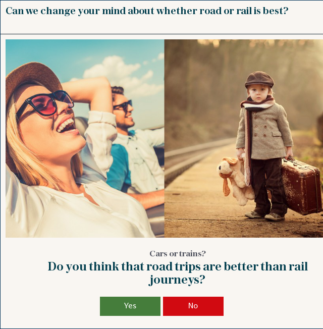 road or rail?