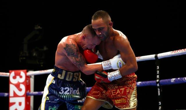 Josh Warrington, left, defeated Kid Galahad by split decision in June 2019 (Dave Thompson/PA)