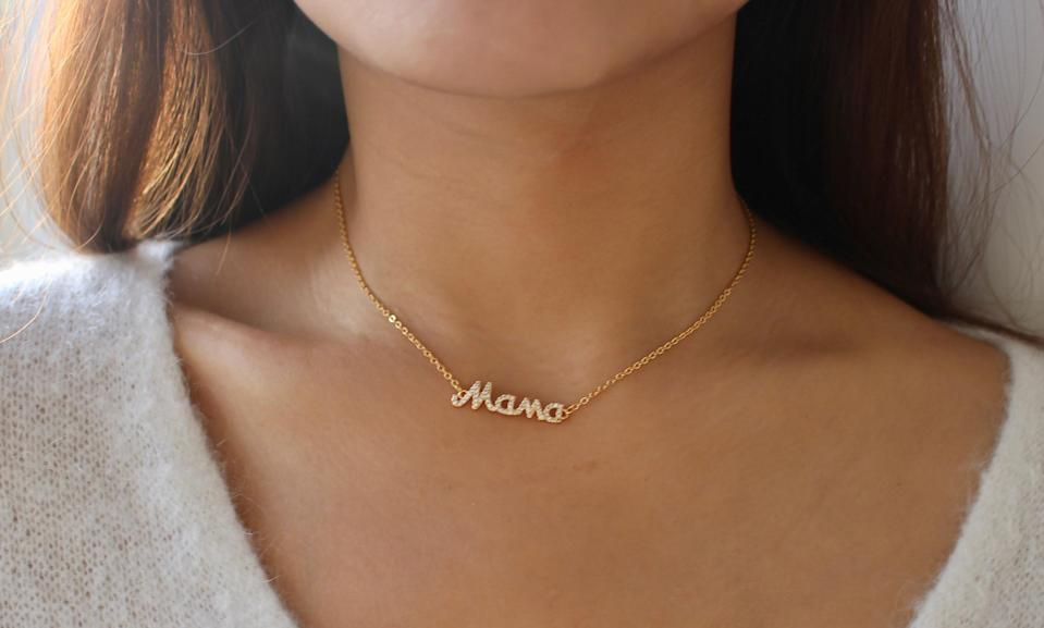 Mama necklace. (Photo: Etsy/Luv Mei Shop)