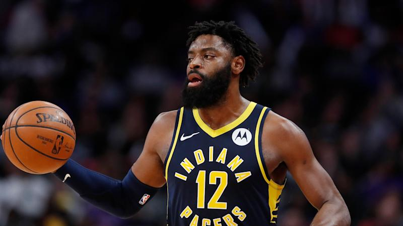 Tyreke Evans, 29, will be eligible to apply for reinstatement to the NBA after two years. (AP)