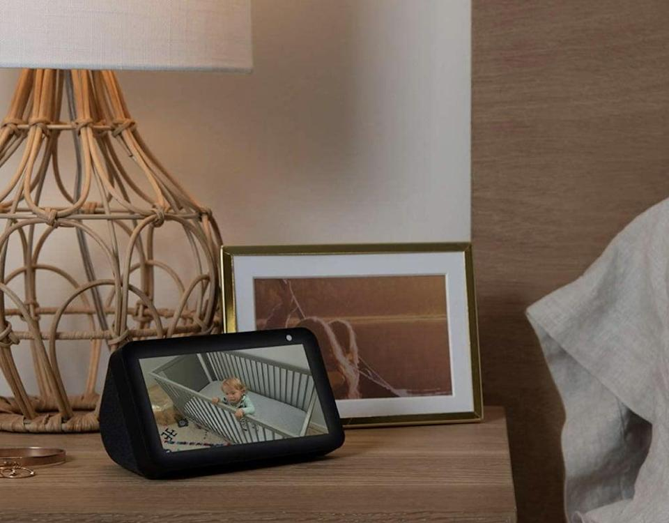 <p>This <span>Smart display with Alexa</span> ($30) will help him manage his day, entertain at a glance, and easily connect you to his friends and family.</p>