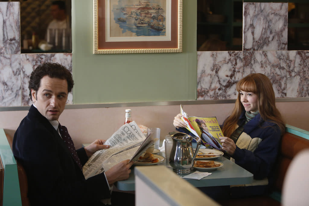 """""""Gregory"""" -- Matthew Rhys as Philip Jennings and Holly Taylor as Paige Jennings"""
