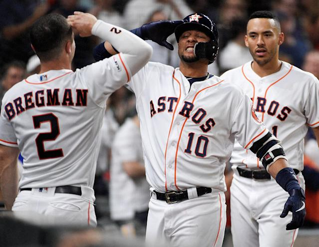 The Astros, Twins and Dodgers are the top 3 teams in MLB after Memorial Day. (AP)