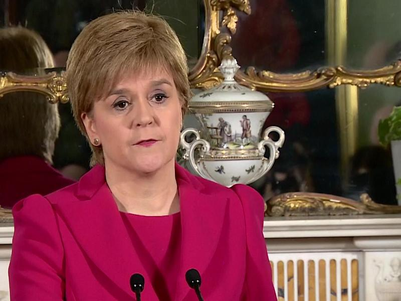 Nicola Sturgeon announced that she will press ahead with plans for another referendum