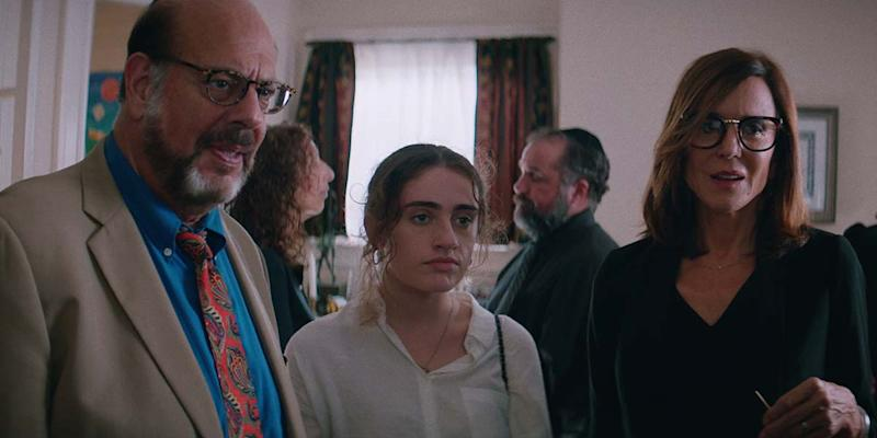 Fred Melamed, Rachel Sennott and Polly Draper in 'Shiva Baby' (Courtesy of TIFF)