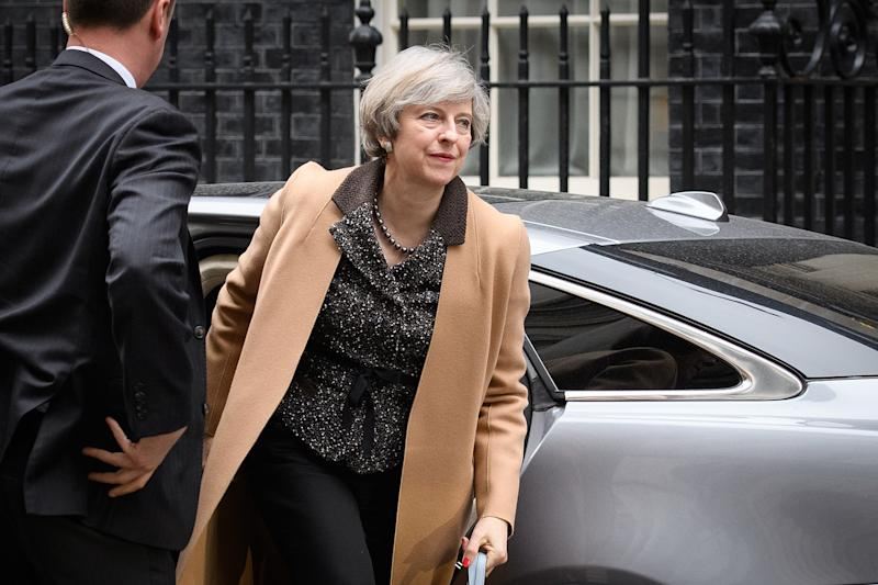 Theresa May returns to number 10, Downing Street: Getty
