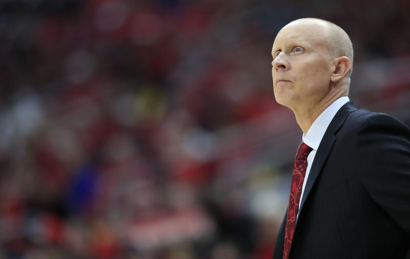 Chris Mack the head coach of the Louisville Cardinals