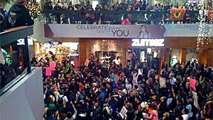 Another Idle No More protest later Sunday at Park Royal shopping centre also gathered a large crowd.