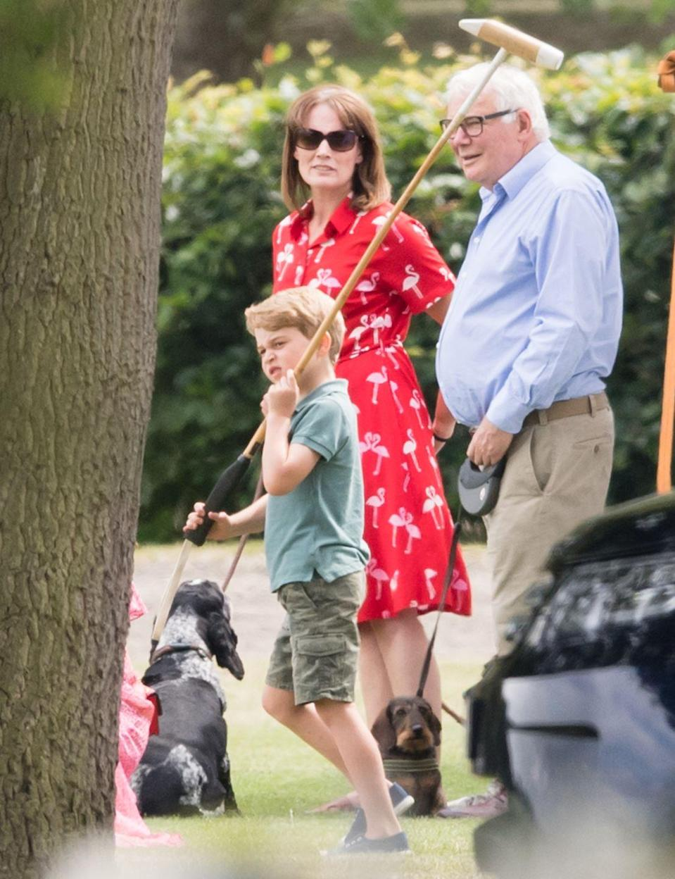 <p>Prince George practices his polo skills at The King Power Royal Charity Polo Day.</p>