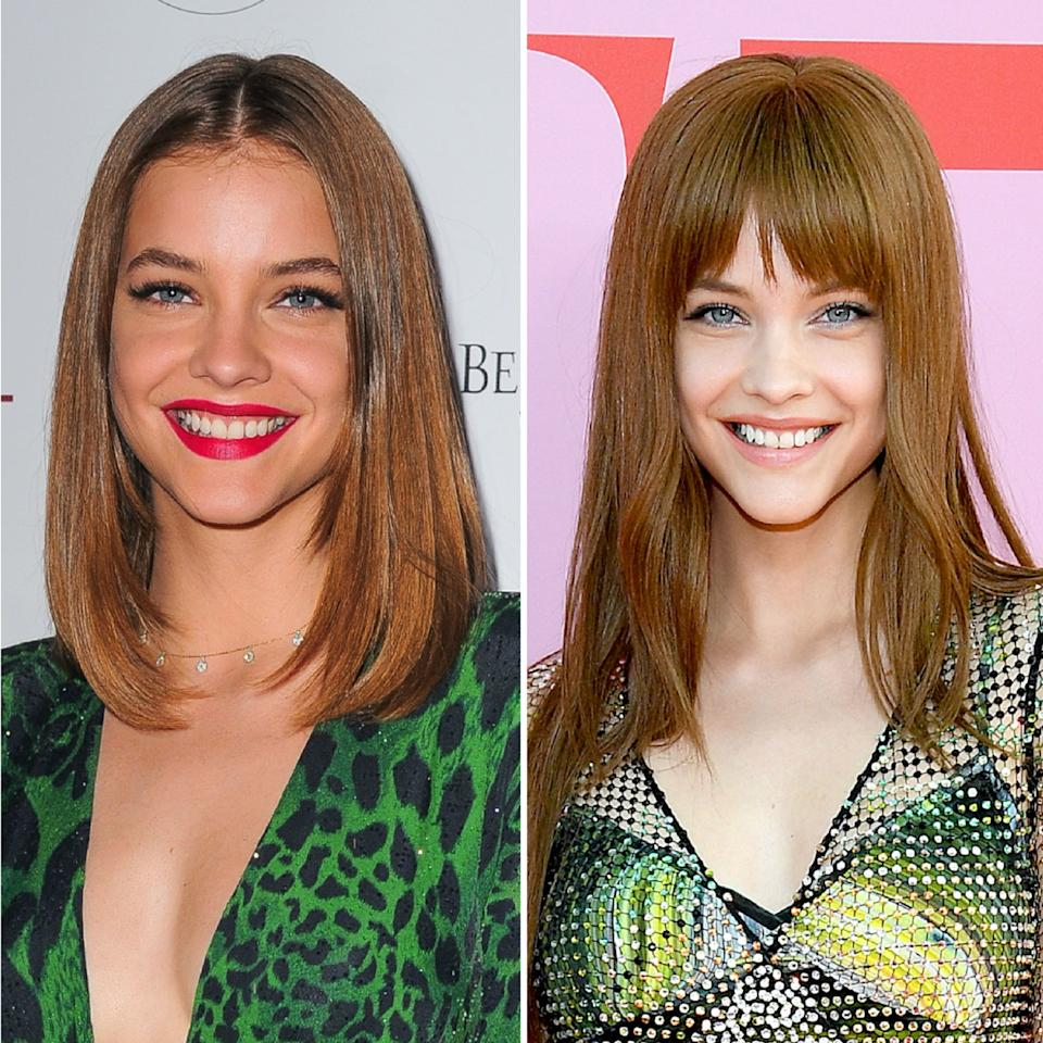 "Until recently, model Barbara Palvin had been sporting a sleek, long bob and no bangs. But for this year's CDFA Awards, she stepped out with a new wow-worthy, '70s-esque style that included eyebrow-grazing fringe and extensions. Turns out hairstylist <a href=""https://www.instagram.com/owengould/"">Owen Gould</a> is the genius behind the star's newfound look, as he posted a shot of Palvin after the event with the caption, ""✨ Babs ✨ for last nights #CDFA Awards."" While our estimated guess would be that the fringe is faux, we'll just have to wait and see to be sure."
