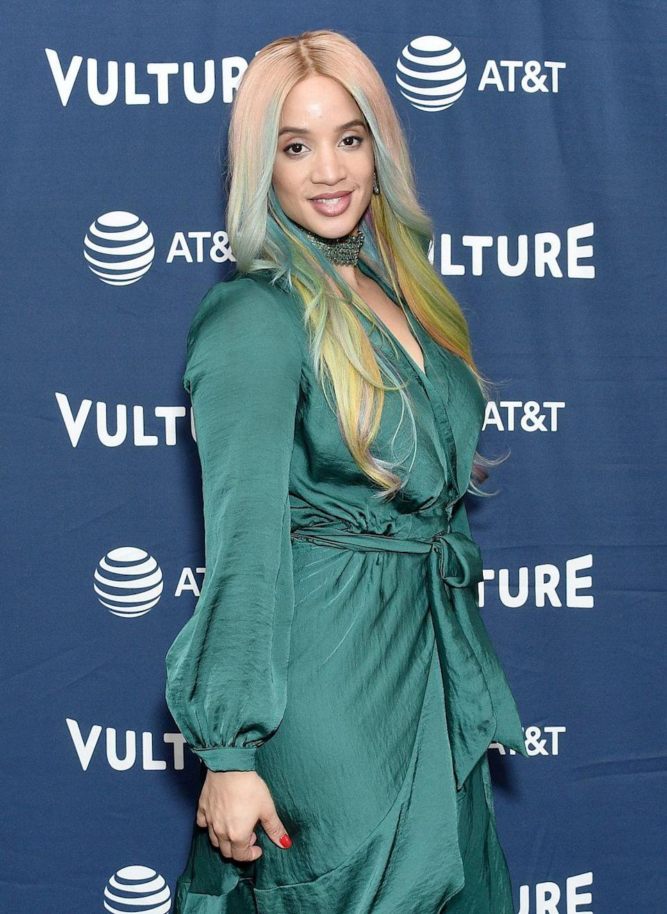 <p>Expect to see a variety of prismatic shades, from Dascha Polanco's blue to pinks, purples, and even greens, says Tang.</p>