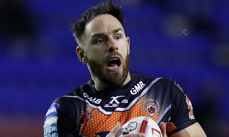 Castleford's Luke Gale, pictured, was forced off with concussion after the high tackle that led to the sending off of Hull FC's Liam Watts.