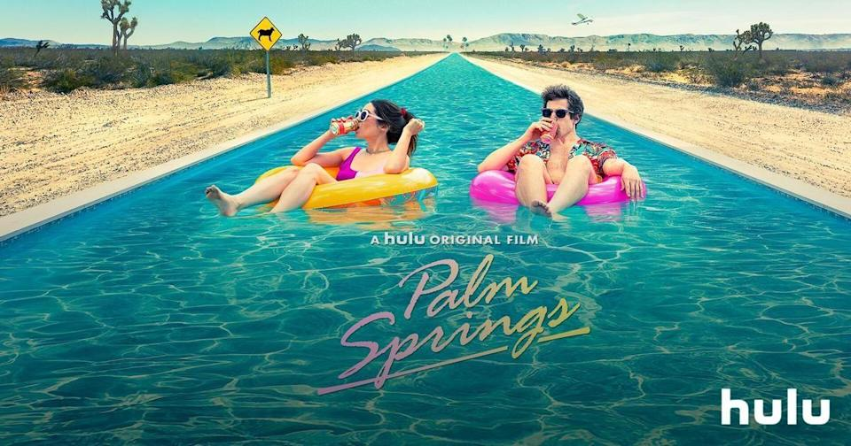 "<p>This Hulu original is funny as it is fresh. Adam Samberg plays Nyles, a happy-go-lucky guy who meets an unenthusiastic bridesmaid named Sarah (Cristin Milioti) at a wedding. What comes next is an unexpected and trippy ride that keeps the unsuspecting pair in a never-ending time loop in Palm Springs.</p><p><a class=""link rapid-noclick-resp"" href=""https://go.redirectingat.com?id=74968X1596630&url=https%3A%2F%2Fwww.hulu.com%2Fmovie%2Fpalm-springs-f70dfd4d-dbfb-46b8-abb3-136c841bba11&sref=https%3A%2F%2Fwww.goodhousekeeping.com%2Flife%2Fentertainment%2Fg34197892%2Fbest-funny-movies-on-hulu%2F"" rel=""nofollow noopener"" target=""_blank"" data-ylk=""slk:WATCH NOW"">WATCH NOW</a></p>"