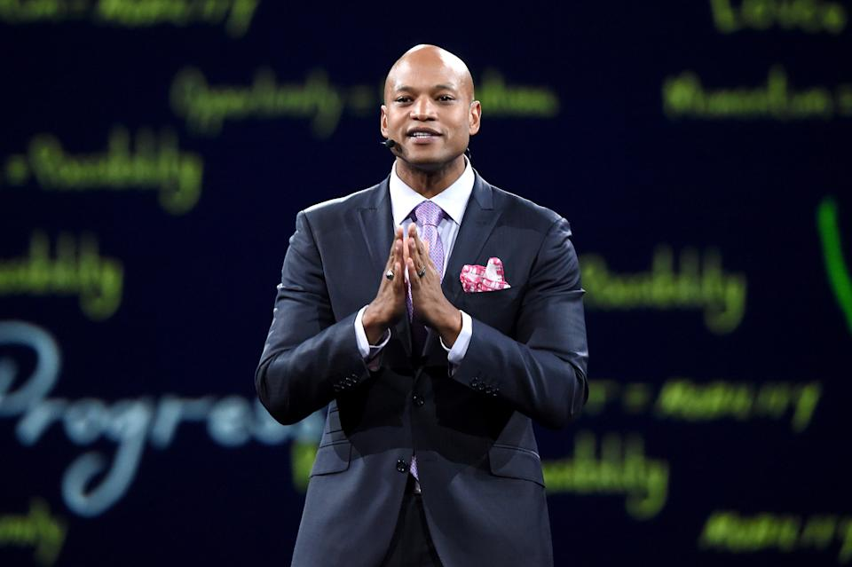 NEW YORK, NEW YORK - MAY 13: Robin Hood CEO Wes Moore speaks onstage during the Robin Hood Benefit 2019 at Jacob Javitz Center on May 13, 2019 in New York City. (Photo by Kevin Mazur/Getty Images for Robin Hood Foundation)