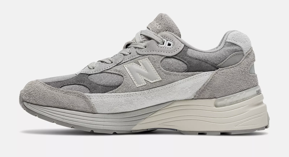 The medial side of the Levi's x New Balance 992 collab. - Credit: Courtesy of New Balance
