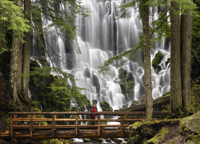 <p>Ramona Falls at Mount Hood National Forest in Mount Hood, Ore. (Photo: Purestock/Getty Images) </p>