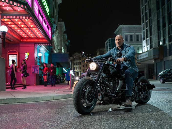 A franchise of one's own: The Rock in the spin-off film 'Hobbs and Shaw', in which Diesel did not feature (Universal)