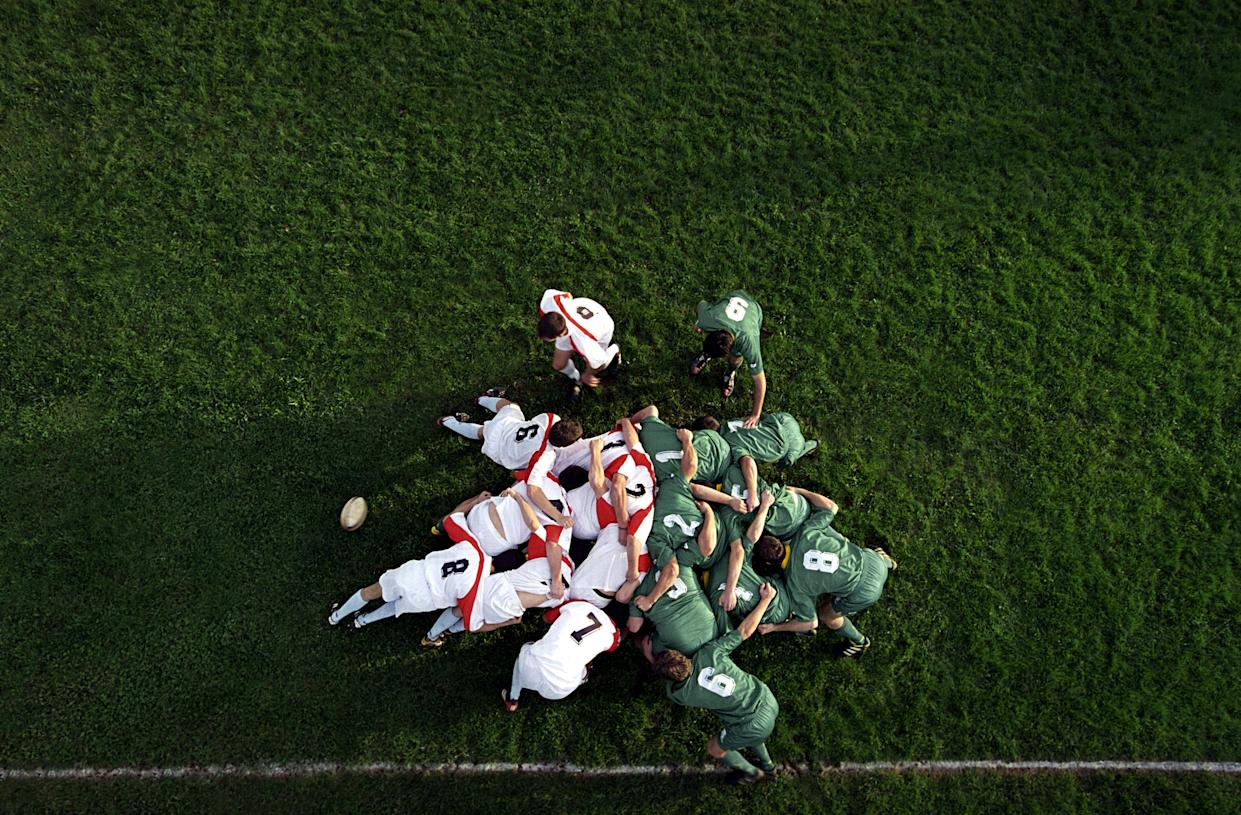 Famous for its scrums, rugby is a contact sport with a high risk of injury. (Stock, Getty Images)