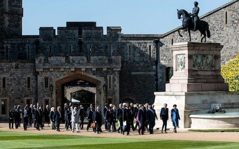 Leaders meet at Windsor for the CHOGM retreat - Credit: PA