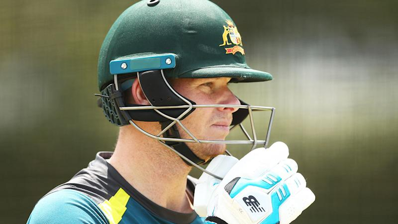 Pictured here, Steve Smith is just 27 runs shy of a 7000-run Test milestone.