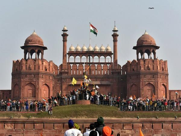 Photo of Red Fort in New Delhi on January 26, 2021. (Photo/ANI)