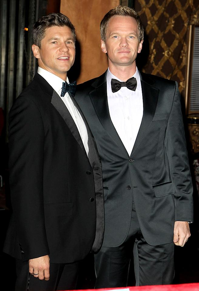 Neil Patrick Harris and his boyfriend David Burtka attend David Furnish's Birthday Party. Pictured: Neil Patrick Harris and David Burtka Ref: SPL451906 261012 Picture by: Brian Lindensmith / Splash News Splash News and Pictures Los Angeles: 310-821-2666 New York: 212-619-2666 London: 870-934-2666 photodesk@splashnews.com