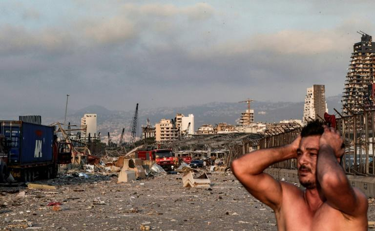 Disbelief: a survivor at the scene of the Beirut port explosion