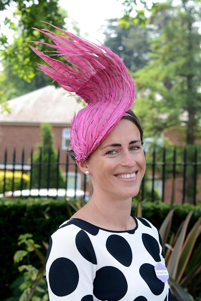 <p>A guest attends day 2 of Royal Ascot at Ascot Racecourse on June 21, 2017 in Ascot, England. (Kirstin Sinclair/Getty Images for Ascot Racecourse) </p>