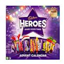 """<p>Go classic with a Cadbury Heroes advent calendar, which combines all your favourite chocolates from the tin into a daily countdown. The likes of Fudge, Wispa, Dairy Milk, Crunchie, Eclair, Double Decker, Twirl, Caramel and Creme Egg are all randomly hidden behind each door. </p><p><a class=""""link rapid-noclick-resp"""" href=""""https://www.waitrose.com/ecom/products/cadbury-heroes-chocolate-advent-calendar/822010-675067-675067?gclid=EAIaIQobChMIgbO-pN7p5AIVhbHtCh0m4AmtEAQYASABEgKtPfD_BwE&gclsrc=aw.ds"""" rel=""""nofollow noopener"""" target=""""_blank"""" data-ylk=""""slk:SHOP NOW"""">SHOP NOW</a> John Lewis, £4.99</p>"""