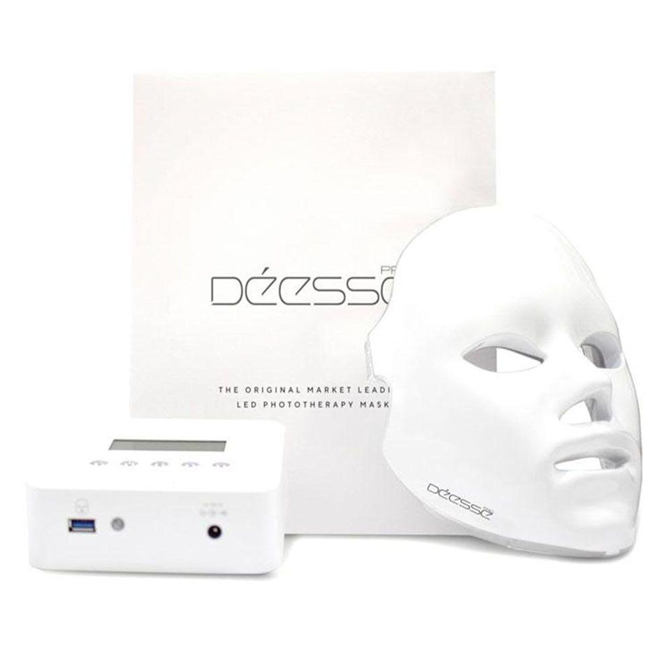 """<p><strong>Déesse</strong></p><p>shanidarden.com</p><p><strong>$1900.00</strong></p><p><a href=""""https://www.shanidarden.com/products/deesse-led-mask"""" rel=""""nofollow noopener"""" target=""""_blank"""" data-ylk=""""slk:Shop Now"""" class=""""link rapid-noclick-resp"""">Shop Now</a></p><p>""""I can't live without my <a href=""""https://urldefense.com/v3/__https://www.shanidarden.com/products/deesse-led-mask__;!!Ivohdkk!3stz1l-8vQL_ANJf1RQPje6QJpwKUEJ4BIGwqbXfTLLMjH3KokHmQ-b2_SlpHiqhUeLy$"""" rel=""""nofollow noopener"""" target=""""_blank"""" data-ylk=""""slk:Déesse Pro Mask"""" class=""""link rapid-noclick-resp"""">Déesse Pro Mask</a>,"""" she says. """"LED light therapy is one of my absolute favorite treatments to give the skin an amazing glow and keep it looking youthful. The Déesse Pro has 770 LED lights to help boost collagen and minimize fine lines for smoother, plumper skin. I always incorporate this into spa days at home. It's a really calming ritual for me that I always look forward to.""""</p><p>Editor's tip: if you can't shell out the $1,900 for this LED mask, we love the <a href=""""https://www.amazon.com/reVive-Light-Therapy-Anti-Aging-System/dp/B00GYI1A7O?tag=syn-yahoo-20&ascsubtag=%5Bartid%7C2089.g.32226377%5Bsrc%7Cyahoo-us"""" rel=""""nofollow noopener"""" target=""""_blank"""" data-ylk=""""slk:reVive Light Therapy Clinical LED tool"""" class=""""link rapid-noclick-resp"""">reVive Light Therapy Clinical LED tool</a>, which is a literal fraction of the price.</p>"""