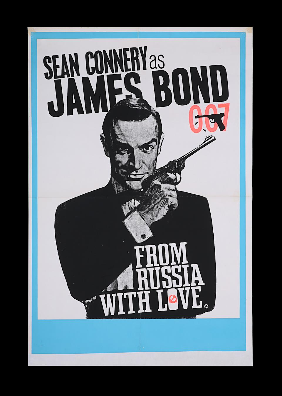 <p>JAMES BOND: FROM RUSSIA WITH LOVE (1963) - British Double-Crown (Artwork Style), 1964 est. £2,000 - £3,000 (Prop Store)</p>