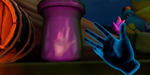Elixir from Magnopus is one of the first several Oculus Quest titles to use hand tracking rather than requiring a wireless controller for input.