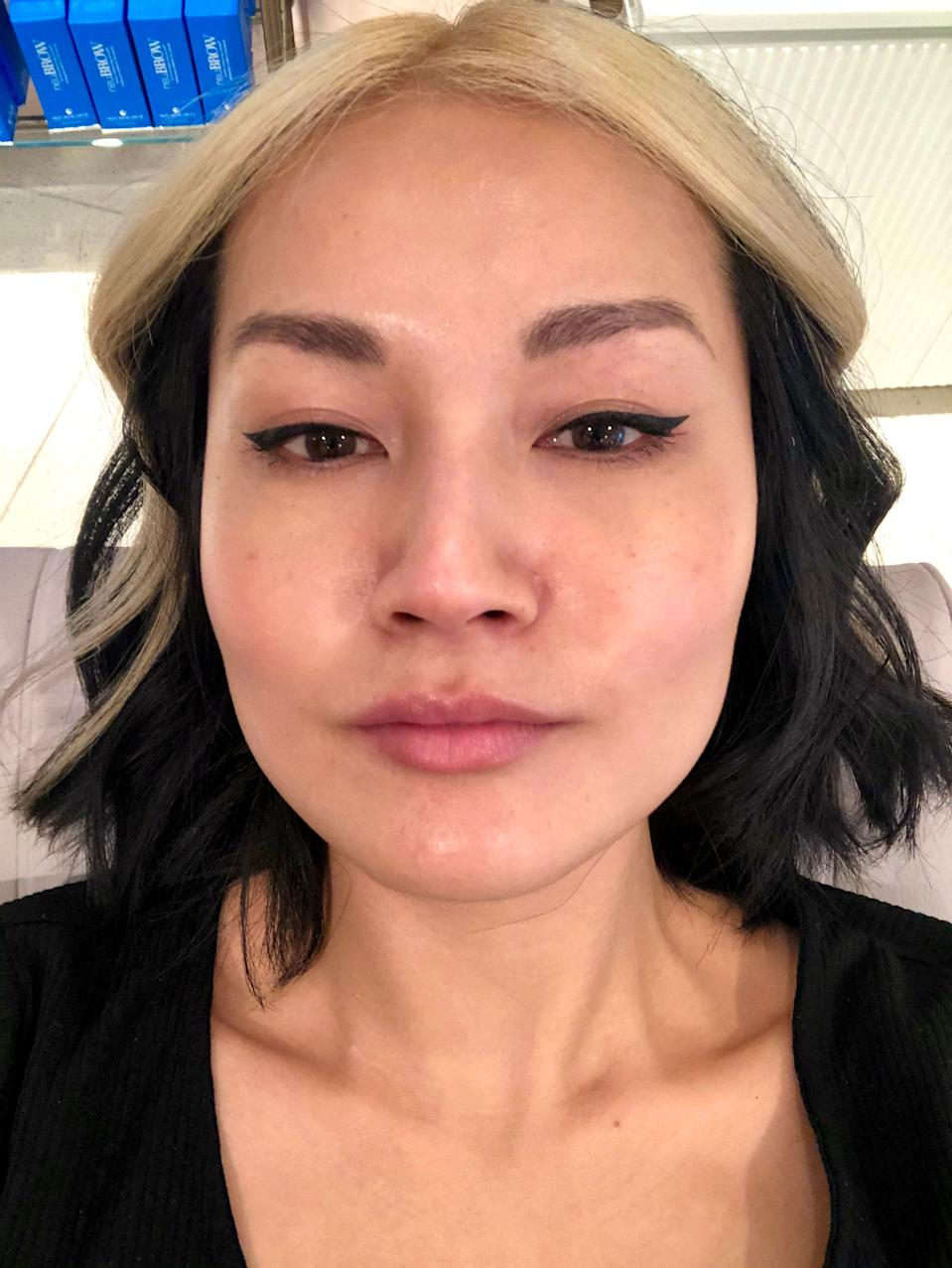 """My """"before"""" brows."""