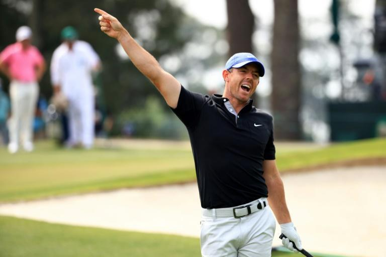 Four-time major winner Rory McIlroy warns Masters fans of an errant shot in Thursday's opening round of the Masters, during which one of his wayward shots struck his father