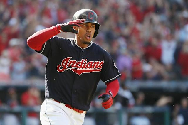 Cleveland Indians shortstop Francisco Lindor will be sidelined for seven to nine weeks with a strained right calf (AFP Photo/Gregory Shamus)