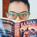 Kajol is re-reading <strong>Raavan: Enemy of the Aryavarta by Amish Tripathi.</strong>