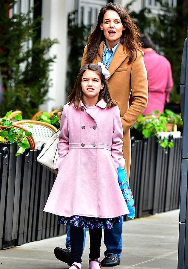 Insiders claim Katie is expecting a baby girl, which would give daughter Suri, whom she shares with ex Tom Cruise, a little sister. Source: Getty