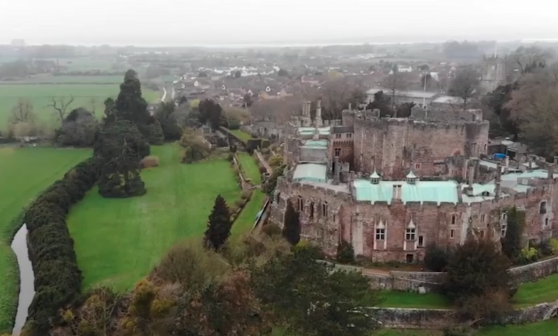 Thomas was testing his new drone at Berkeley Castle. Photo: Mega