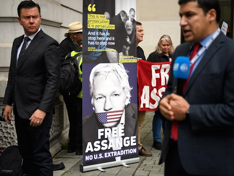 WikiLeaks' Assange Says His Life at Stake in Extradition Fight